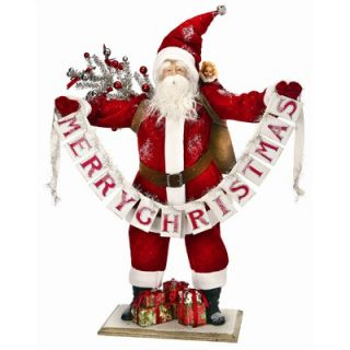 Regency International Santa with Merry Christmas Banner Figurine