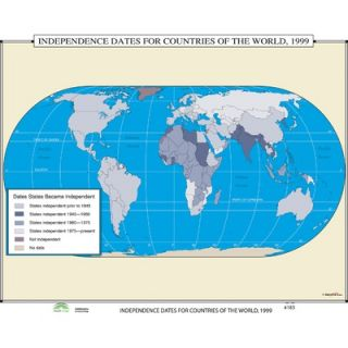 Universal Map World History Wall Maps   Independence Dates for