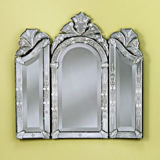 Venetian Gems Monet Wall Mirror in Clear   VG 025 Clear