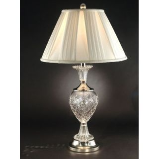 Dale Tiffany Yorktown Crystal Table Lamp in Brushed Nickel