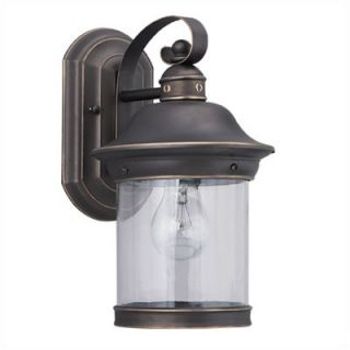 Sea Gull Lighting Hermitage Outdoor Wall Lantern in Antique Bronze