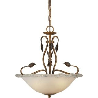 Forte Lighting 3 Light Bowl Pendant   2464 03 41