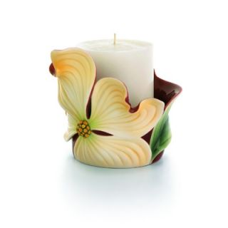 Franz Collection Autumn Memories Floral Porcelain Pillar Candle Holder