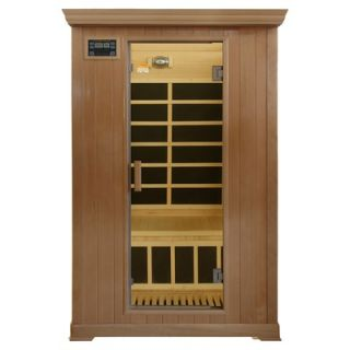 Crystal Sauna 2 Person Infrared Sauna with Eight Carbon Heaters and