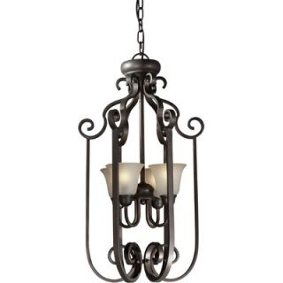Forte Lighting 4 Light Foyer Pendant   2446 04 32
