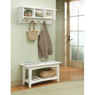 Alaterre Shaker Cottage Bench Table and Coat Hooks   ASCA04IV Set