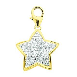 EZ Charms 14K Yellow Gold Diamond Star Charm