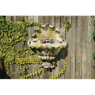 OrlandiStatuary Shell Opera Planter Garden Wall Decor