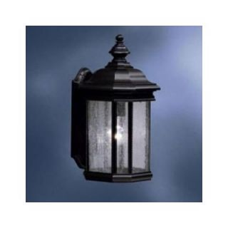 Kichler Kirkwood Outdoor Wall Lantern in Black with Clear Seedy Glass