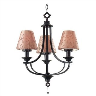 Kenroy Home Outdoor 3 Light Belmont Outdoor Chandelier   31367ORB