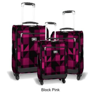 World Crescent 3 Piece 4 Wheels Expandable Luggage Set   JLH 1900
