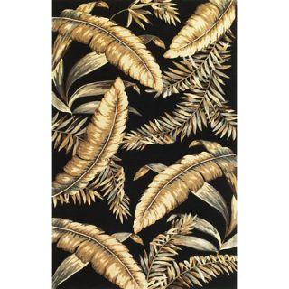 KAS Oriental Rugs Sparta Black Ferns Rug