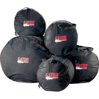 Gator Cases 5 Piece Fusion Drum Bags Set   GP FUSION 100 BLK