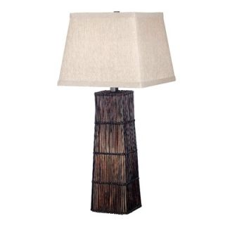 Kenroy Home Wakefield Table Lamp in Dark Rattan   20977DRT