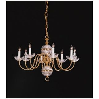 Crystorama Trinity Eight Light Chandelier in Polished Brass   4108