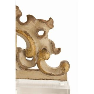 ARTERIORS Home Wakefield Painted Hand Carved Solid Wood Frag / Acrylic