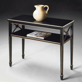 Black Sofa & Console Tables