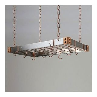 Rogar Stainless Steel Pot Rack with Copper Accents and Optional