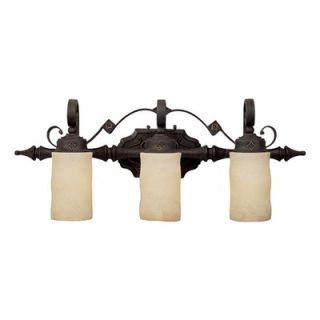 Capital Lighting River Crest Three Light Bath Vanity in Rustic Iron