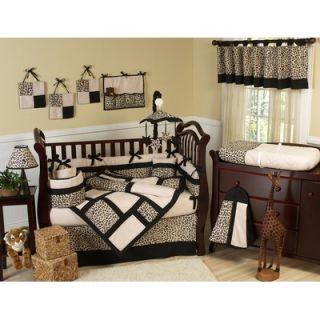 Sweet Jojo Designs Animal Safari 9 Piece Crib Bedding Set