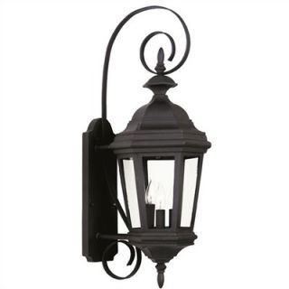 Kenroy Home Estate Medium Wall Lantern in Black