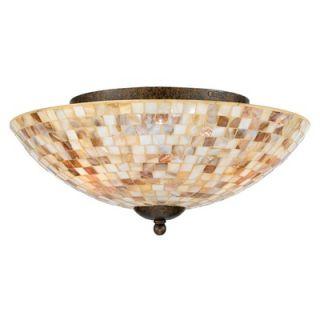 Quoizel 3 Light Monterey Mosaic Semi Flush Mount   MY1613ML