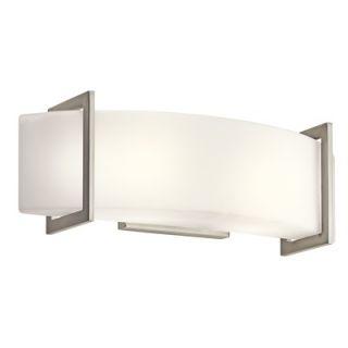 Kichler Crescent View Vanity Light in Brushed Nickel