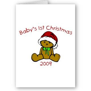 Our 1st Christmas 2009 (African American Triplets) Greeting Cards