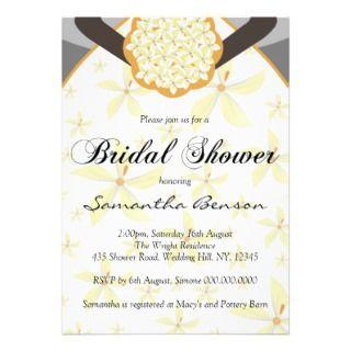 Wedding Dress Custom Bridal Shower Invites Black