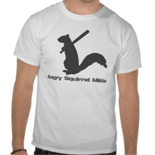 Angry Squirrel Militia T shirt