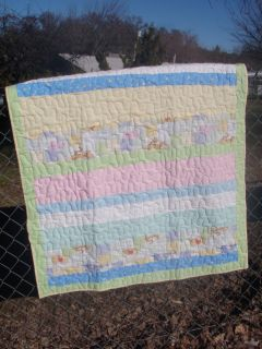 Handmade Baby Quilt Neutra Winnie The Poohl