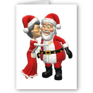 Mr and Mrs Santa Claus Christmas Card