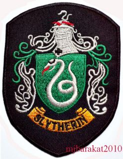 Harry Potter House Slytherin Crest Embroidered Patch Christmas Gifts