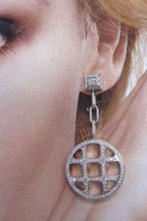 Cartier 18K White Gold 210 Diamond Pasha de Cartier Pendant Earrings