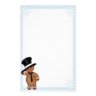 Gingerbread Man Stationary Stationery