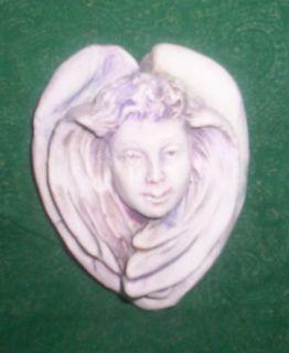 Miniature Haydn Larson Angel Plaque Statue Yard Art Shabby Gardens