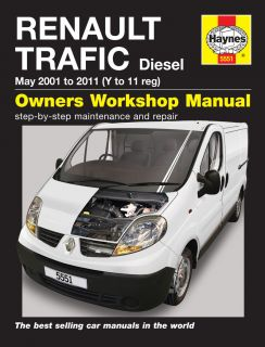 HAYNES WORKSHOP REPAIR OWNERS MANUAL RENAULT TRAFIC DIESEL 01  11 Y TO