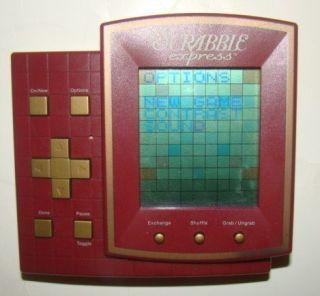 RARE Hasbro 1999 Scrabble Express Electronic Handheld Travel Crossword