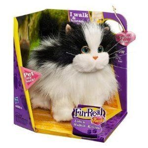 Hasbro Furreal Friends Electronic Kitty Cat Toy White Black Cute
