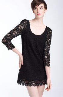 DIANE VON FURSTENBERG ~ HASINA Black Lace Cocktail Dress (6