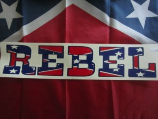 Dukes of Hazzard Hazzard Life 01 DECAL REBEL FLAG