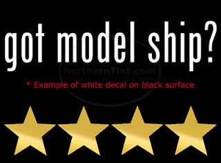 got model ship vinyl wall art truck car decal sticker