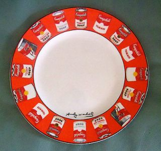 Authentic Vintage ANDY WARHOL Pop Art Plate Campbells Soup Studio 54