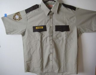 Real Sheriff Grimes King County Shirt Hi Quality Costume Walking Dead