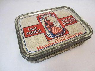 Martin Son Hull Punch Judy Tobacco Tin Empty C1930s