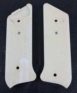 Ruger Mark MK II Grip Pistol Grips Ivory Polymer 22 22LR White Custom
