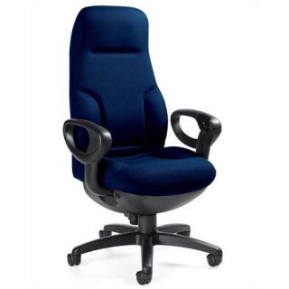 Global Total Office Richigh Back Leather Executive Chair with Arms