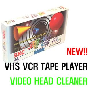 New VHS VCR Video Head Cleaning Cassette Tape Cleaner