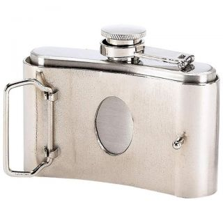 Lot of 6 Belt Buckle Flasks 3 oz Groomsmen Gift