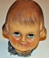 Vintage Antique Doll Head w Weighted Closing Eyes Open Mouth Parts
